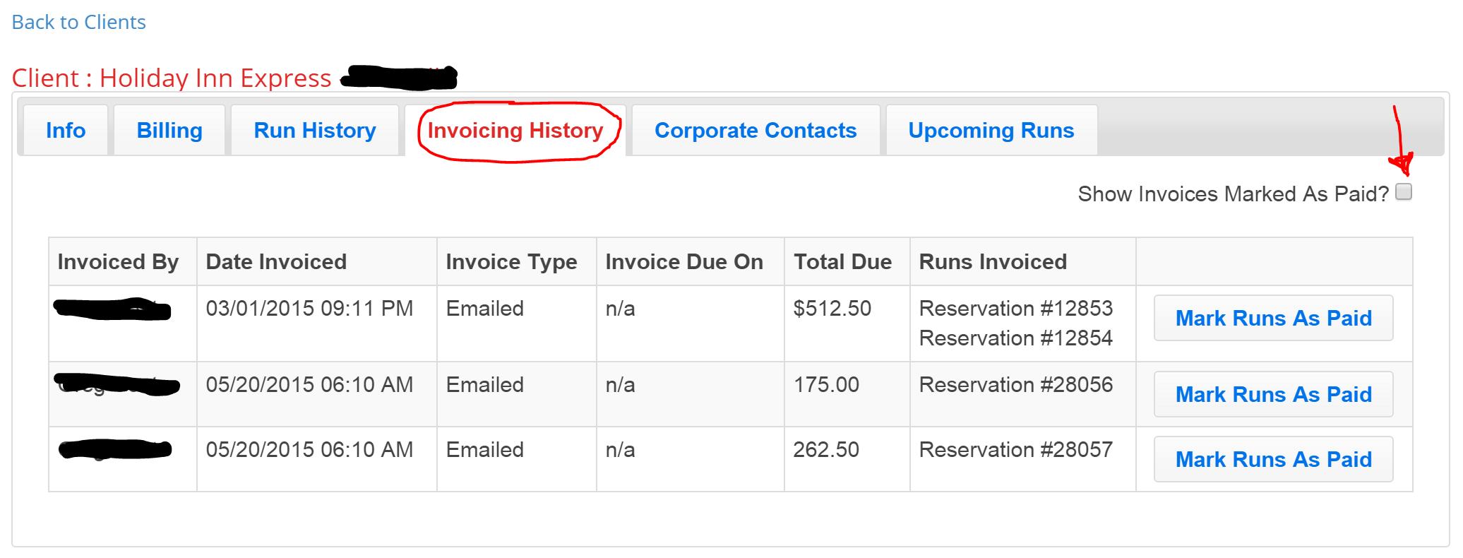 type of invoice